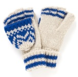 Two Tone Fairisle Capped Gloves http://tinyurl.com/pztahf2