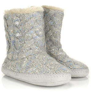 Ribbon Cable Knit Boots http://tinyurl.com/omh889s