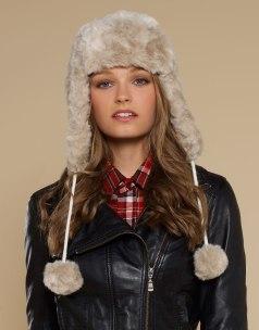 Marbled Faux Fur Trapper http://tinyurl.com/q842p8b