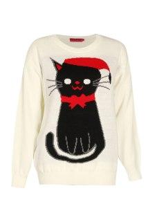 Boohoo €22 - Ella Cat Christmas Jumper