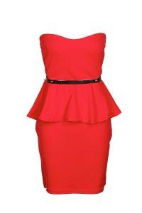 Boohoo €22 - Charlotte Belted Bandeau Peplum Dress http://tinyurl.com/md9ckua