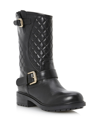 Dune €120 - Router Quilted Leather Biker Boot http://www.dunelondon.com/router-quilted-leather-biker-boot-0073501020002484/