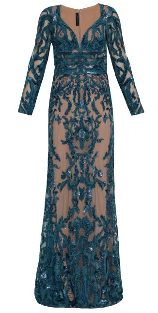 Elie Saab V-Neck Beaded Gown