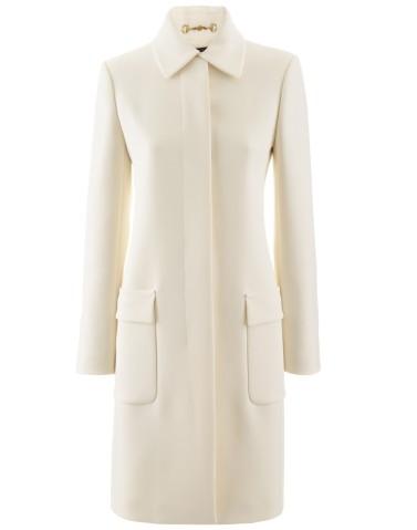 Gucci €1,490 - White Classic Coat http://tinyurl.com/ncrarkt