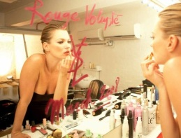 Kate Moss & YSL Rouge Volupté, March 2008