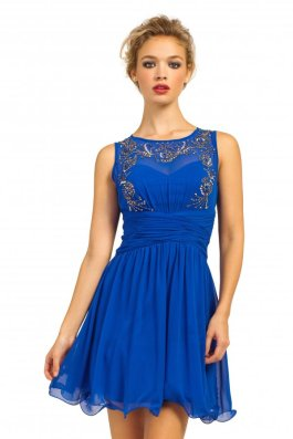 Cobalt Embellished Pleated Prom Dress http://www.little-mistress.co.uk/dresses-c101/prom-dresses-c104/cobalt-heavily-embellished-pleated-waist-sleeveless-prom-dress-p979