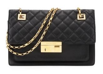Gia Quilted-Top Flap Shoulder Bag http://tinyurl.com/o853fsy