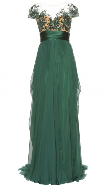 Zuhair Murad Embellished Satin & Tulle Gown