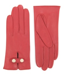 Ted Baker €75 - Chupa Leather Gloves http://www.tedbaker.com/ie/Womens/Accessories/Gloves/CHUPA-Leather-button-glove-Orange/p/109921-85-ORANGE
