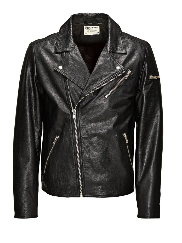 Jack & Jones €229.95 - Classic Biker Leather Jacket http://bit.ly/1BtbYmL