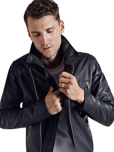 Daniele Alessandrini €299.95 - Classic Lamb Leather Jacket http://bit.ly/1rNYH8e