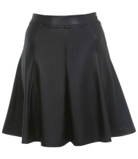 Faux leather A-line skirt, Miss Selfridge