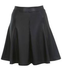 Faux leather A-line skirt, Miss Selfridge
