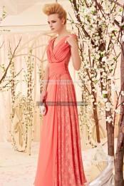 €199 - Spectacular V-neck Watermelon Lace Party Dresshttp://www.fannycrown.com/amazing-v-neck-long-watermelon-evening-dresses.html