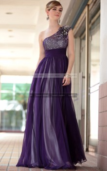 €160 - Wonderful One Shoulder Grape Party Dress http://www.fannycrown.com/beautiful-one-shoulder-long-grape-evening-dresses-4270.html