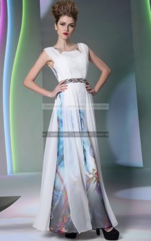 €149 - Egyptian Inspired Floral Evening Dress http://www.fannycrown.com/charming-bateau-long-multicolored-evening-dresses-4600.html