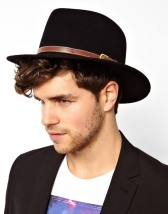 ASOS €28.57 - Wide Brim Fedora with Leather Look Trim http://bit.ly/1wMQRaM