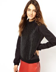 ASOS €41.10 - Sweatshirt with Bubble Wrap Panel http://tinyurl.com/o8vuhv7