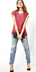 ASOS €24.66 - T-Shirt in Oversized Mesh with Zip Detail http://tinyurl.com/pqv3umb