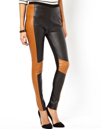 ASOS €41.10 - High Waisted Leather Look Trousers http://tinyurl.com/nnwz8cw