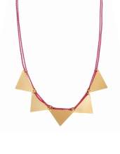 ASOS €16.44 - Cord Triangle Necklace http://tinyurl.com/kobevc4