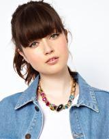 ASOS €21.92 - Rainbow Jewel Link Collar Necklace http://tinyurl.com/poy3jft