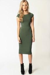 Boohoo €11 - Cara Cap Sleeve Jersey Bodycon Midi Dress http://bit.ly/1AhOhhW
