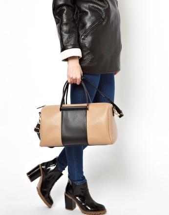 ASOS €47.95 - Bowler Bag With Front Contrast Panel http://tinyurl.com/pdgotmj