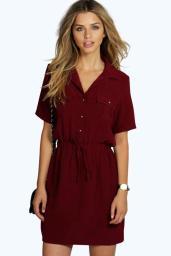 Boohoo €20 - Daisy Tie Waist Shirt Skater Dress http://bit.ly/22fRlsn