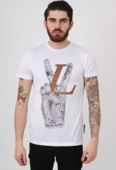 Criminal Damage €25.55 - Love Victory Mesh White Tshirt http://bit.ly/1zJnM20