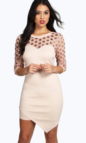 Boohoo Night €16 - Elena Embellished Polka Dot Bodycon Dress http://bit.ly/1TIITQT