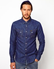 Wrangler €71.43 - Denim Shirt Slim Fit City Western http://bit.ly/1vGa11I