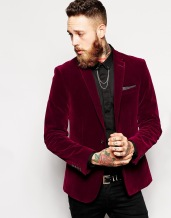 ASOS €114.29 - Slim Fit Blazer in Velvet http://bit.ly/1HnVXT1