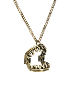 Icon Brand €27.40 - Jaws Moveable Necklace http://tinyurl.com/otjc9nx