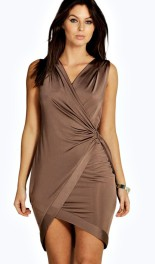 Boohoo Night €24 - Jess Slinky Wrap D-Ring Bodycon http://bit.ly/1RhgyAV