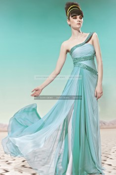 €209 - Chic One shoulder Long Sky Blue Celebrity Dresses http://www.fannycrown.com/chic-one-shoulder-long-sky-blue-celebrity-dresses.html