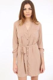 Dresses.ie €26.62 - Soft Nude Shirt Dress http://bit.ly/1M2iqLJ