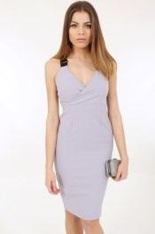 Dresses.ie €38 - Strap Back grey bodycon http://bit.ly/1U1ab5x