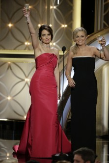 Tina Fey & Amy Poehler on stage Look 2