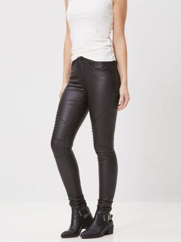 Vero Moda €39.95 - Lucy Coated Biker Jeans http://bit.ly/1Rih6QZ