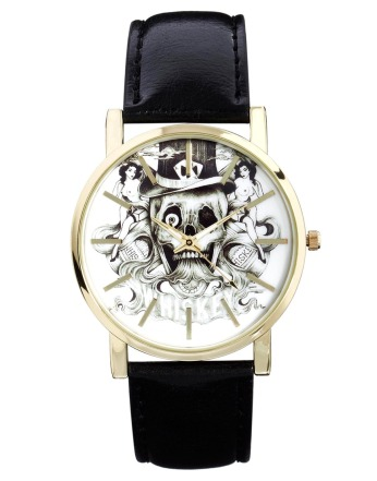 ASOS €34.25 - Watch with Whiskey Skull Face http://tinyurl.com/qcnopbr