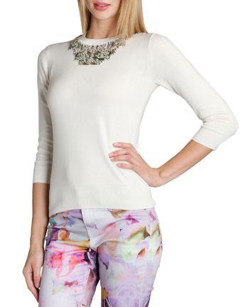 Blithe €190 - Embellished Collar Jumper http://tinyurl.com/pfbz7wx