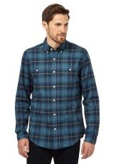 Hammond & Co. by Patrick Grant @ Debenhams €60 - Bright turquoise checked long sleeved shirt http://bit.ly/1O2MQeM