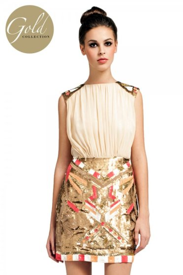 Little Mistress €129.60 - Gold Collection Cream 2 in 1 Heavily Embellished Bodycon Dress http://www.little-mistress.co.uk/dresses-c101/gold-collection-c42/cream-2-in-1-heavily-embellished-bodycon-dress-p492