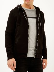 River Island €40 - Black zip pocket long sleeve hoodie http://bit.ly/1WyHz1N