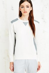 Urban Outfitters €344 - MM6 Leather Insert Sweatshirt http://tinyurl.com/pnyxkhm