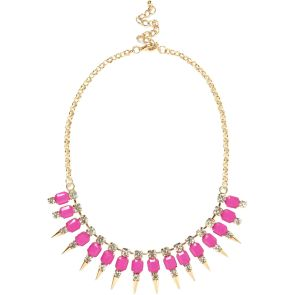 River Island €17 - Pink Spike Statement Necklace http://eu.riverisland.com/women/jewellery/necklaces/Pink-spike-short-statement-necklace--643389