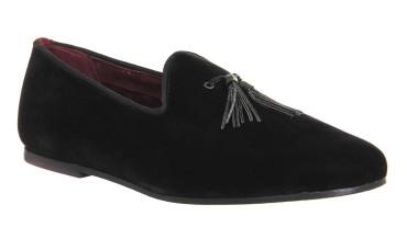 Ted Baker €161.61/£120 - Thrysa Slipper Loafers in Black Velvet http://bit.ly/1YN5EUB