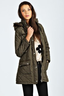 Boohoo €55 - Grace Quilted Parka http://bit.ly/1x331iP