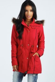 Boohoo €61 - Alia Faux Fur Leather Trim Parka http://bit.ly/1x2WCoR